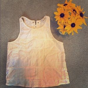 American eagle tied back white tank